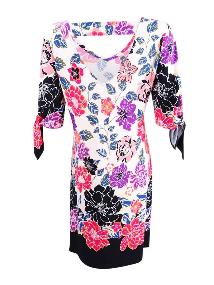 Msk-Women-039-s-Printed-Cold-Shoulder-Cutout-Dress thumbnail 4