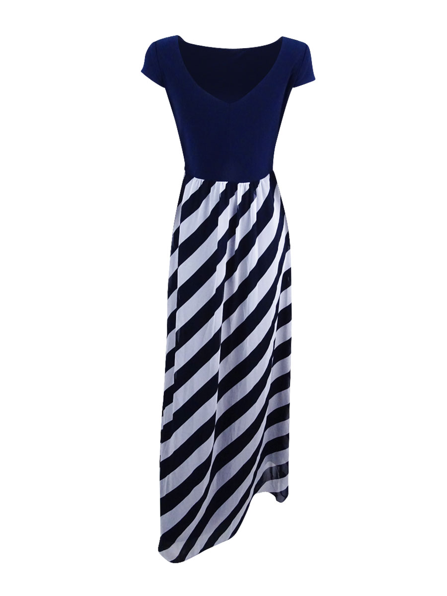 SL-Fashions-Women-039-s-Diagonal-Stripe-Maxi-Dress thumbnail 4