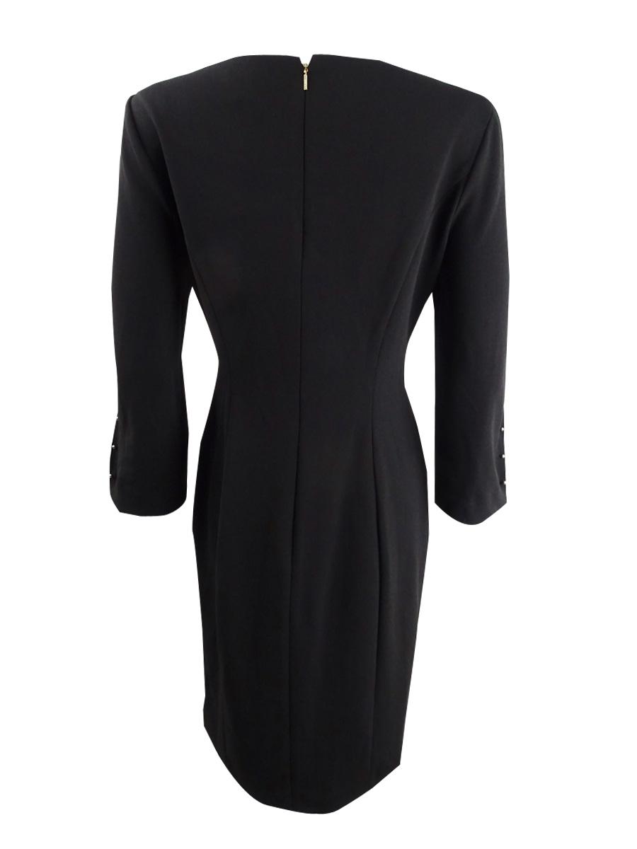 DKNY-Women-039-s-Long-Sleeve-Sheath-Dress thumbnail 6