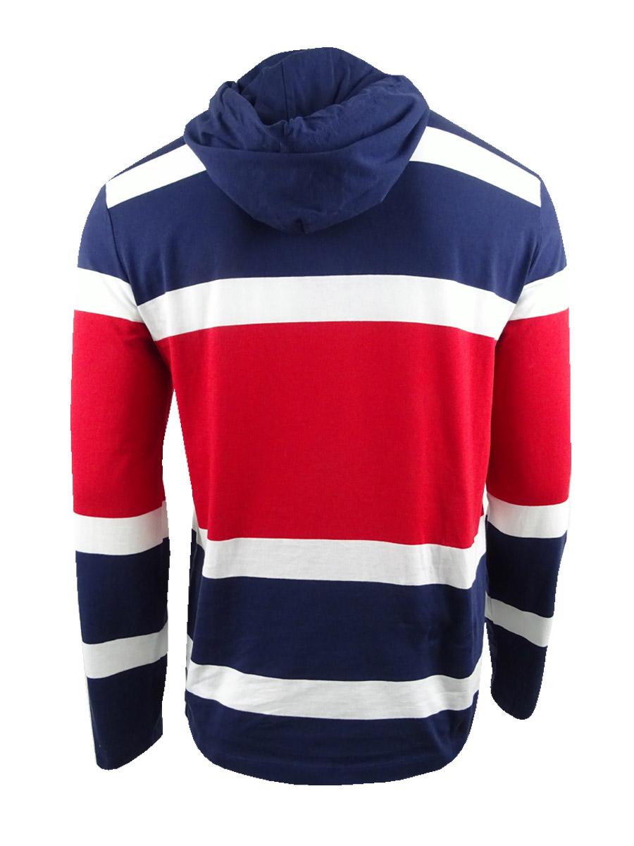 Polo-Ralph-Lauren-Men-039-s-Hooded-Chariots-T-Shirt-S-French-Navy-Multi thumbnail 4