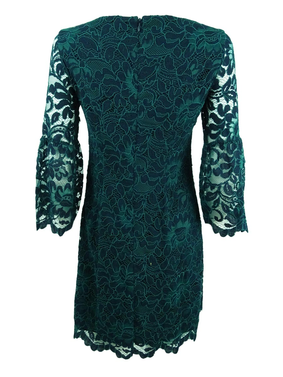 Jessica-Howard-Women-039-s-Bell-Sleeve-Lace-Dress thumbnail 4