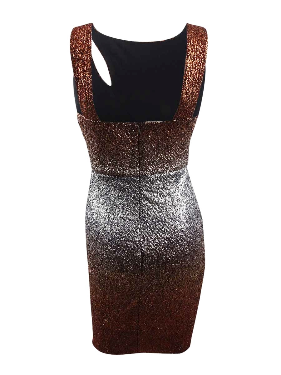 Guess-Women-039-s-Metallic-Ombre-Bodycon-Dress thumbnail 4